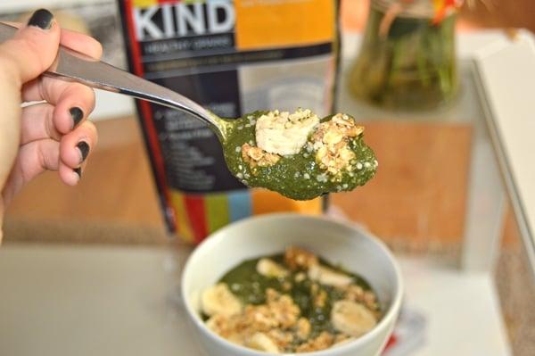 Spinach Acai Bowl - What I Ate Wednesday