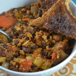 Delicious, nutritious, comforting and very easy to make 3-bean veggie chili. Perfect on a cold day! Vegan and Gluten-Free.