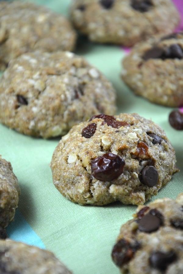 Vegan Chocolate Chip Raisin Pecan Cookie #vegan #dairyfree