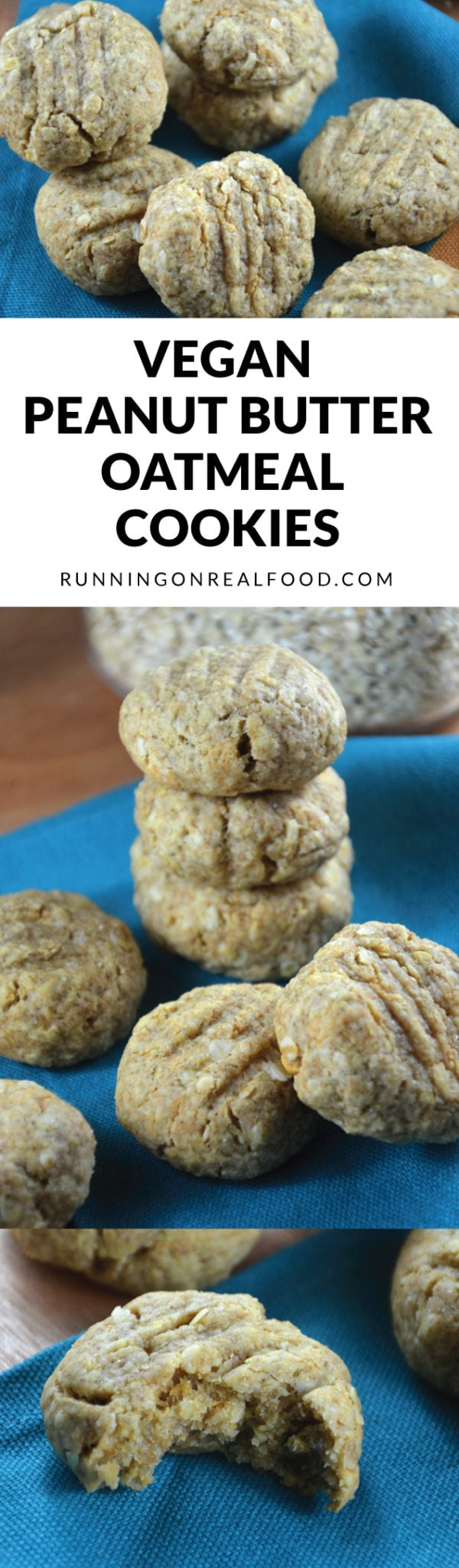 These vegan peanut butter oatmeal cookies are delicious, easy to make and completely egg and dairy-free. Make in one bowl, bake in 8 minutes and you'll have a yummy, sweet treat ready to satisfy your sweet tooth.