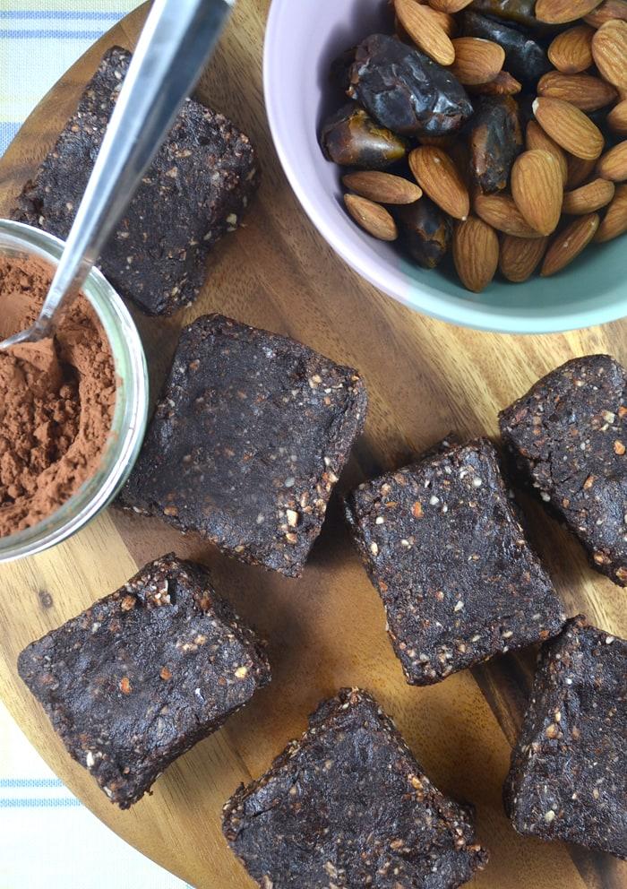Chocolate Almond Espresso Bars - Vegan, Gluten-Free, No-Bake, No Sugar ...