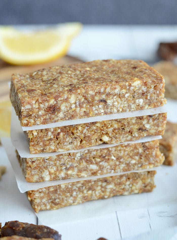 Homemade Lemon Pie Larabars - Raw, Vegan, Just 4 Ingredients!