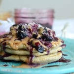 Whole Wheat Fluffy Vegan Pancakes