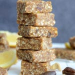 Homemade Lemon Pie Larabars - Raw, Vegan, Just 4 Ingredients!