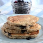 Vegan Coconut Blueberry Pancakes: Whole wheat, easy to make, perfect for weekends!