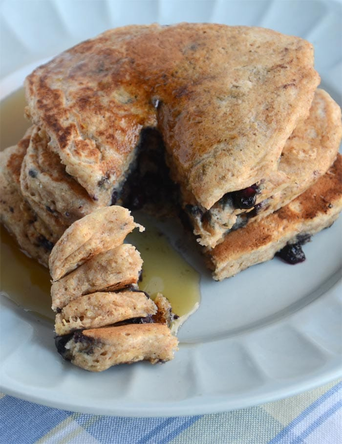 Blueberry Coconut Vegan Pancakes