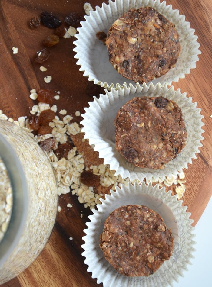 Mini PB Oat Cups and a PB Oatmeal Smoothie: Vegan, Gluten-Free, No-Bake, Ready in Minuntes #adamsnaturalpb
