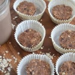 Mini Peanut Butter Oat Cups: Vegan, Gluten-Free, No-Bake, Ready in Minuntes #adamsnaturalpb