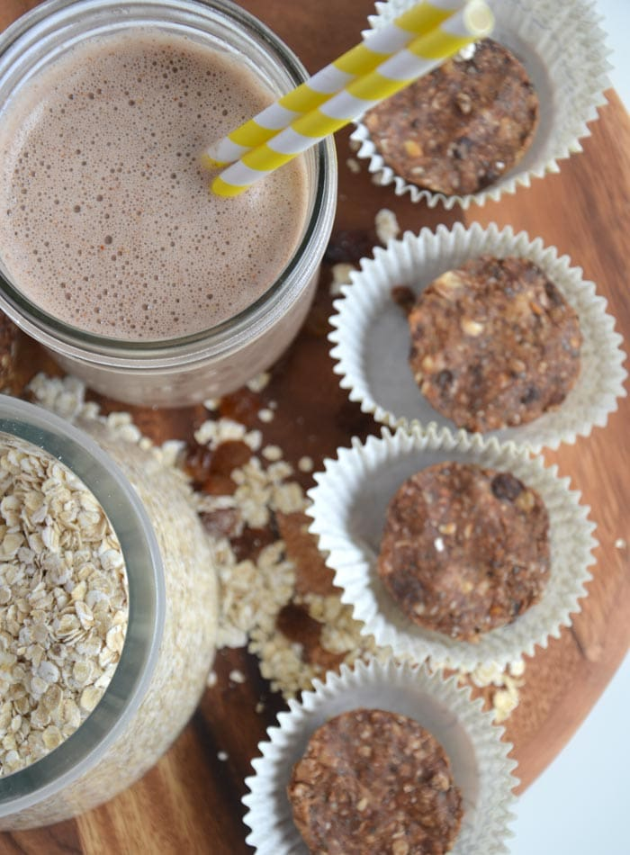 Chocolate Peanut Butter Energy Bites - Vegan + No-Bake