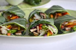 Crispy Baked Tofu Collard Green Wraps with DOLE Chopped Salads