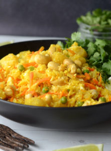 Vegan Pineapple Cashew Cauliflower Rice