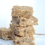 Hemp Seed and Toasted Coconut Bars (Vegan, Grain-Free, Gluten-Free) #vegansnacks