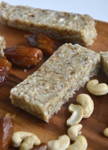 Paleo Energy Bars with Cashew and Coconut
