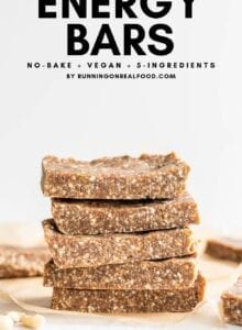 Pinterest graphic with text overlay for Paleo Energy Bars.