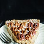 Maple Pecan Pie (Raw, Vegan, Gluten-Free, Paleo)