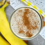 Vegan Coconut Banana Cream Pie Smoothie #veganrecipes #healthysmoothies
