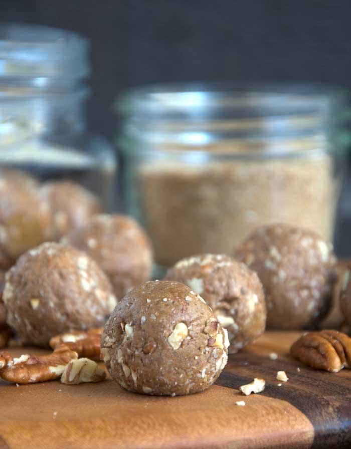 Vegan Gingerbread Protein Balls - No-Bake, No Blending!