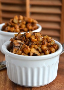 Spiced Chickpeas with Mushroom and Garlic