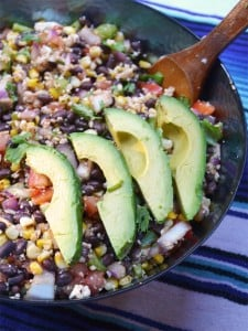Mexican Grilled Corn and Black Bean Salad