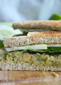 Cumin Lime Smashed Chickpea Avocado Sandwich