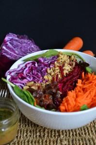 Beet Walnut Salad with Sweet Dijon Vinaigrette