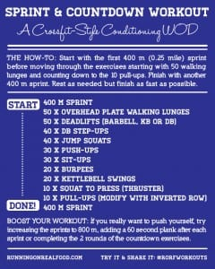 Sprint and Countdown Workout – A CrossFit-Style Conditioning WOD