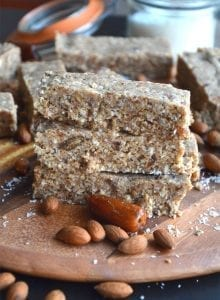 Almond Coconut Protein Bars with Hemp Seeds - Vegan, Gluten-Free, No-Bake