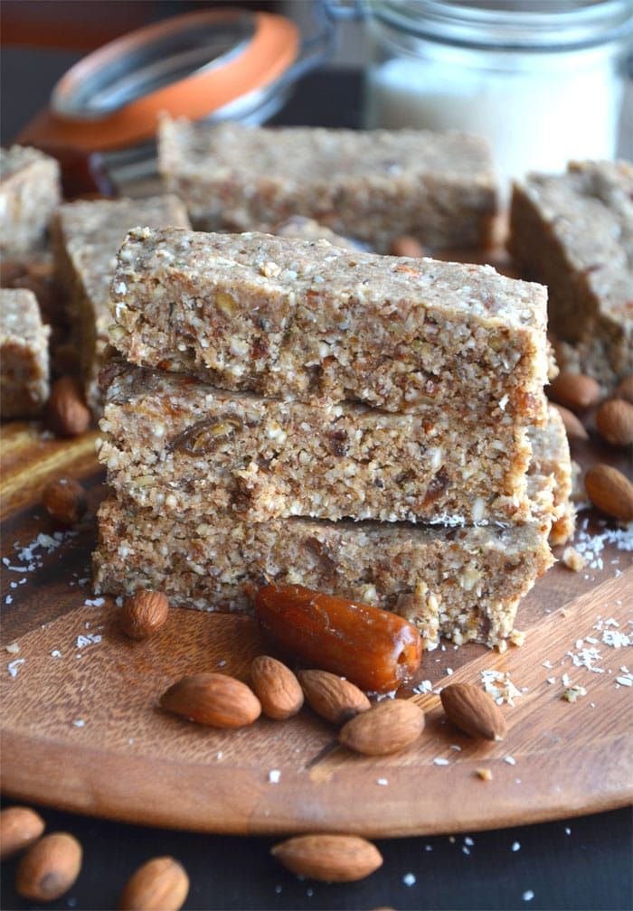 Almond Coconut Protein Bars with Hemp Seeds