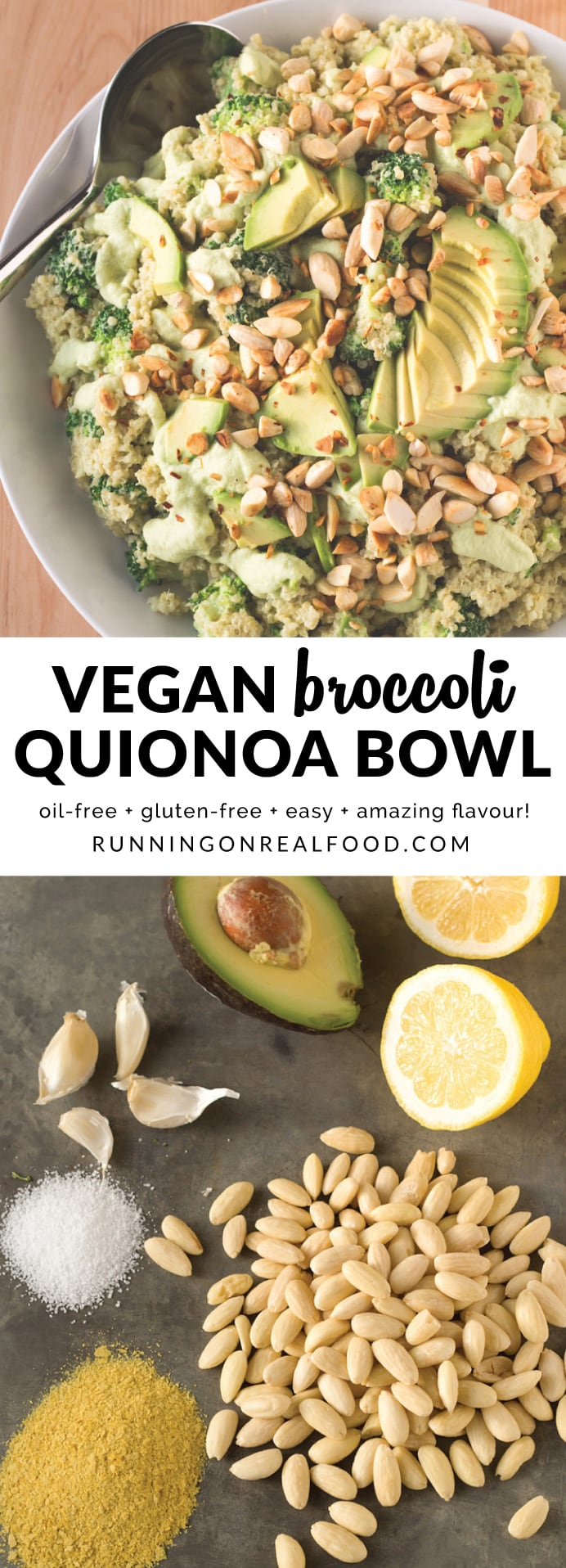 This easy recipe is packed with healthy, delicious ingredients like avocado, broccoli, almonds and nutritional yeast. The sauce is made with the broccoli stalks making it packed with nutrition and reducing any food waste. It's vegan, oil-free and gluten-free. Super easy to make, loaded with flavour.