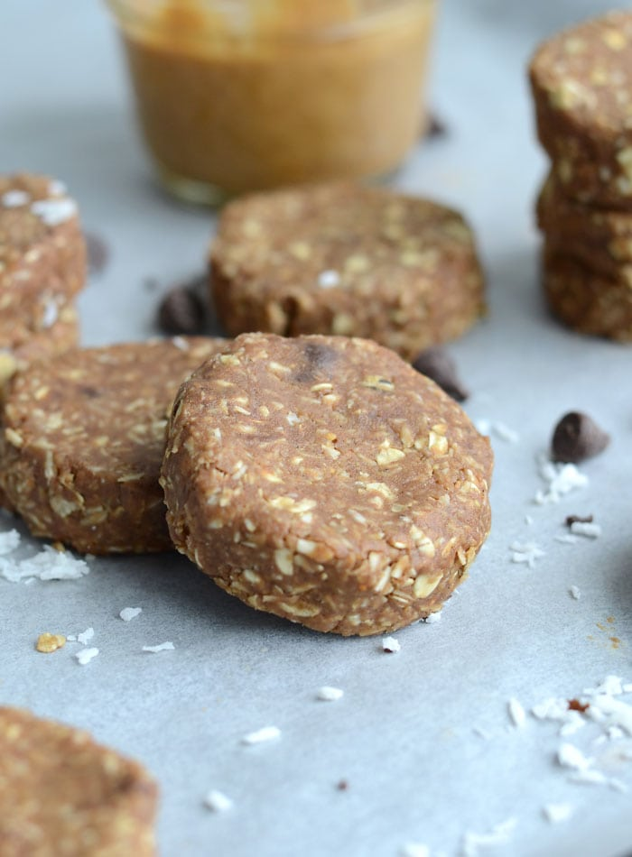 No-Bake Chocolate Coconut Protein Cookies - Vegan