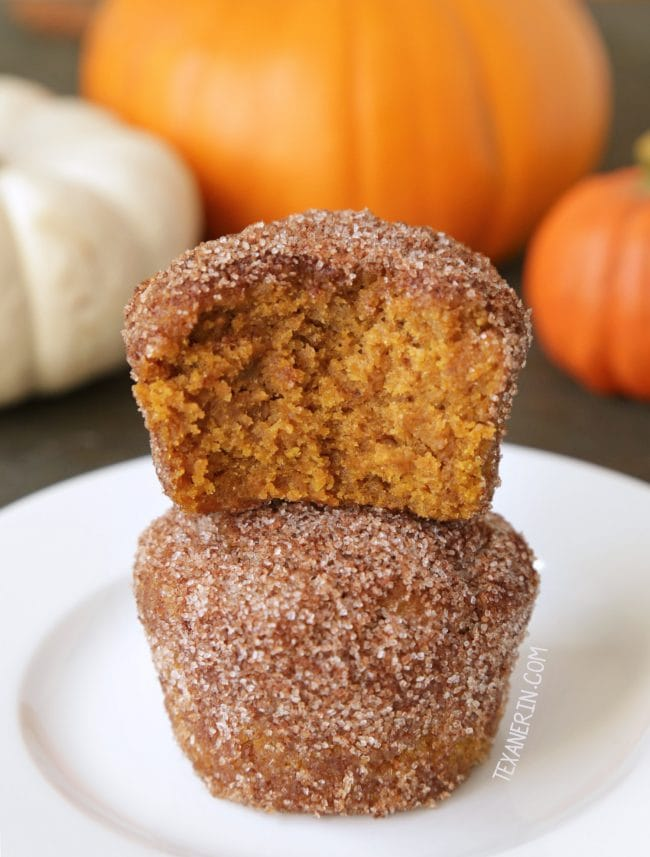 Vegan Pumpkin Muffins that can be made gluten-free. - Running on Real Food