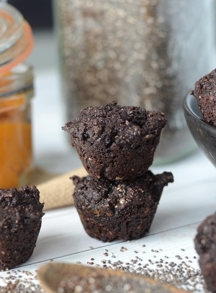 Easy Vegan Two Bite Brownies with Pumpkin and Chia Seeds