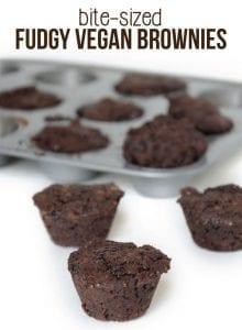 Bite-Sized Fudgy Vegan Brownies with a Secret Healthy Ingredient! #veganrecipes #veganbrownies
