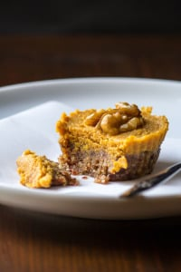 Vegan No-Bake Pumpkin Pie Tarts by Edible Sound Bites