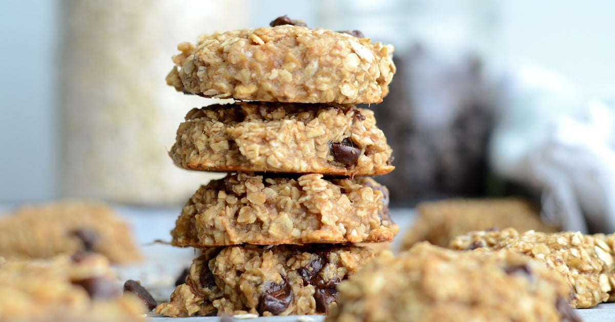 Flourless Peanut Butter Banana Oatmeal Cookies Vegan