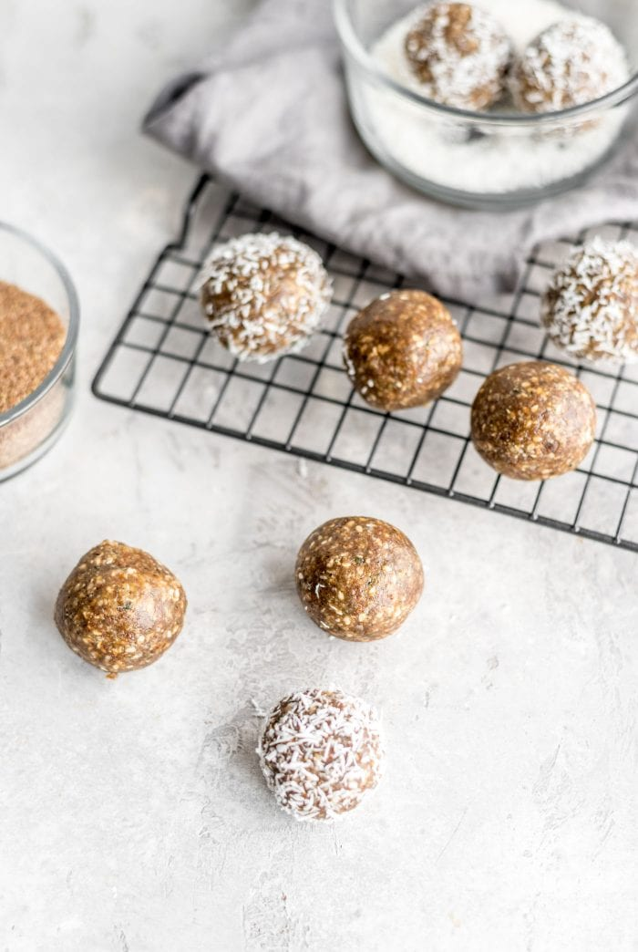 Easy Nut-Free Maple Flax Energy Balls Recipe - Running on Real Food