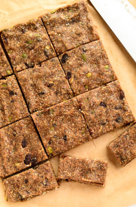 Vegan Oatmeal Raisin Bars with Hemp and Chia Seeds