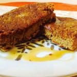 Vegan Gingerbread Protein Pancake Bars
