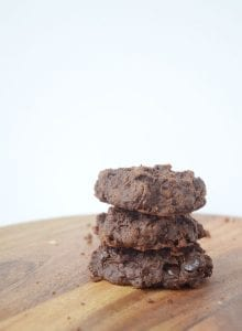 Vegan Double Chocolate Protein Cookies - Made with a secret ingredient and no protein powder!