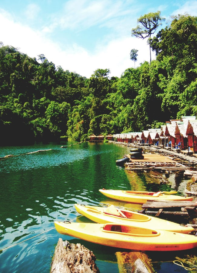 Floating Huts on Chiew Lan Lake