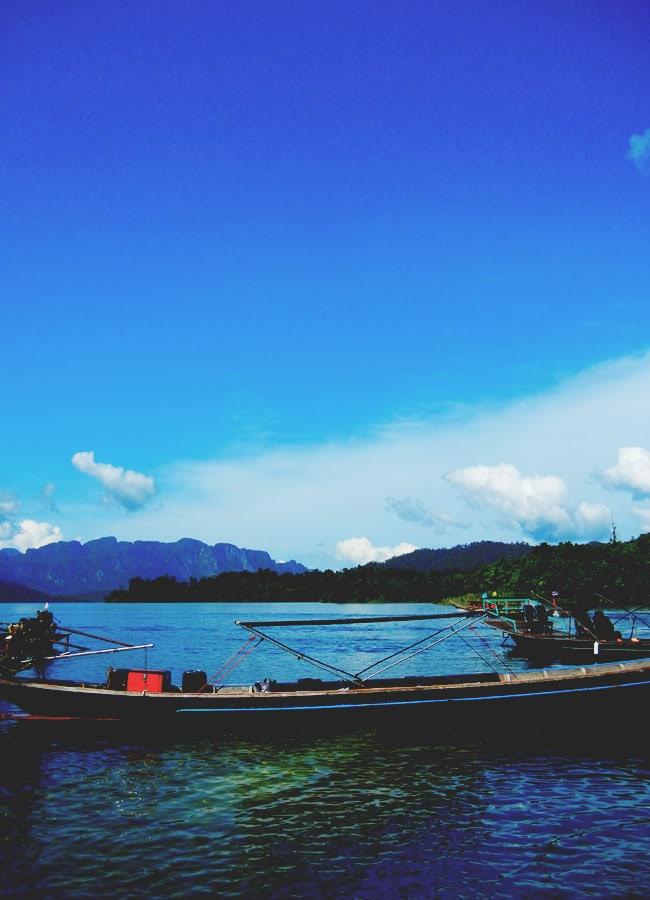 Long Tail Boat Chiew Lan Lake