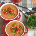 Spicy Creamy Vegan Tomato Soup - Easy as can be and ready in minutes!