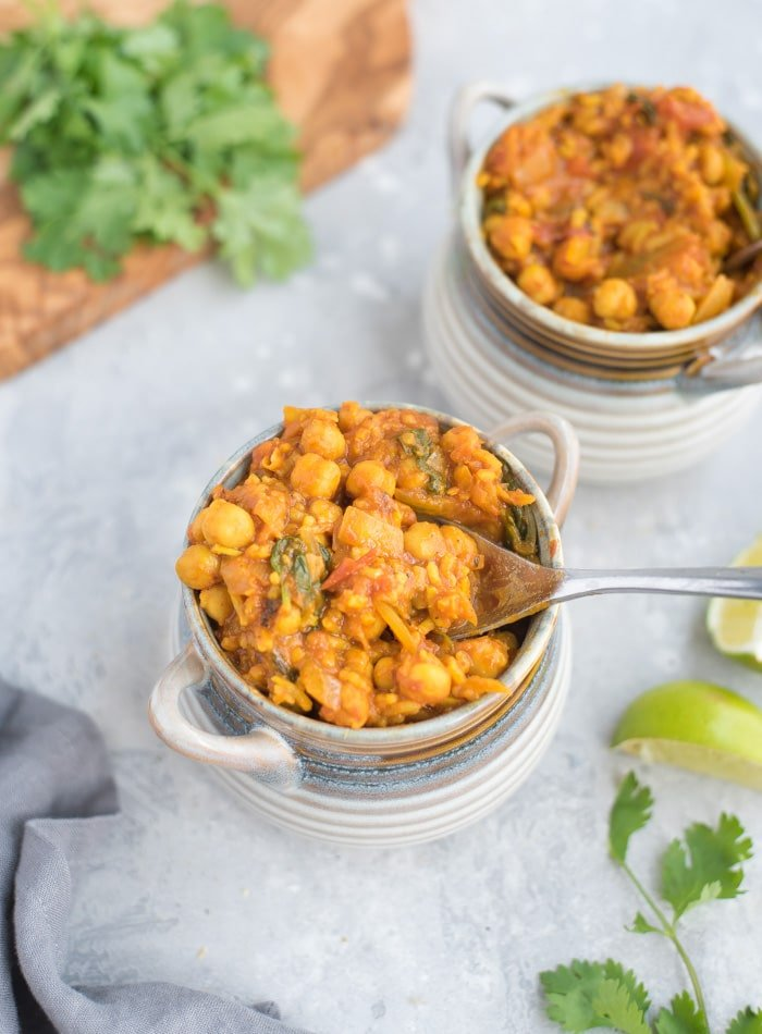 Vegan Chickpea Coconut Curry - Running on Real Food