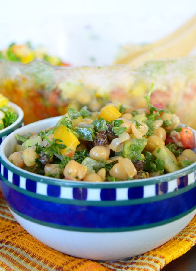 Bell Pepper and Chickpea Salad with Tahini Dressing - Vegan