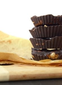 Raw Vegan Chocolate Peanut Butter Banana Cups