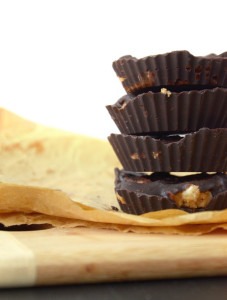 Raw Chocolate Peanut Butter Banana Cups