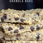 Chocolate Chip Chia Seed Granola Bars
