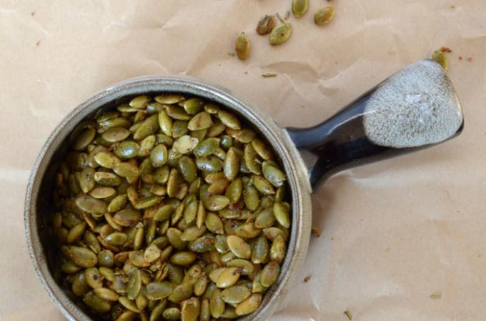 Garlic Rosemary Roasted Pepitas