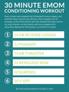 30 Minute EMOM Conditioning Workout