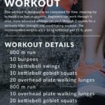 Run Intervals Strength and Conditioning Workout